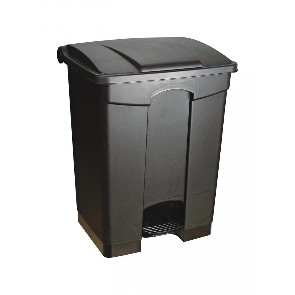 Afvalcontainer - 68 Liter - Zwart - Promoline