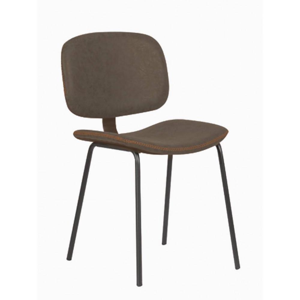 Horeca stoel - Louis - Bruin - Staal