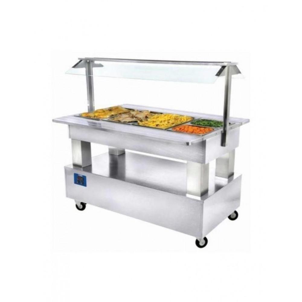 Warm buffet - Bain-marie - 4x GN 1/1-150 (wit hout) - BBM/4N-A1 - Diamond
