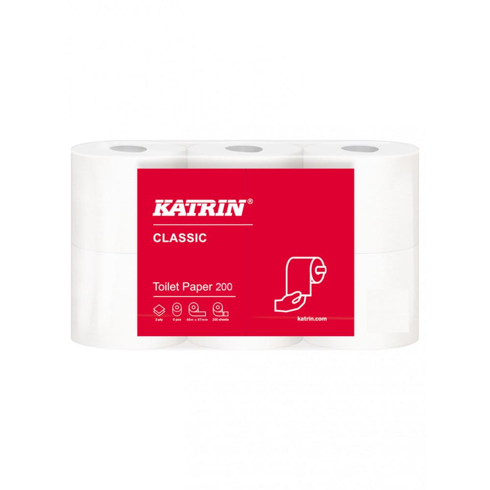 Toiletpapier - Professionele kwaliteit - Classic - 200 - Pak van 48 rollen - Katrin