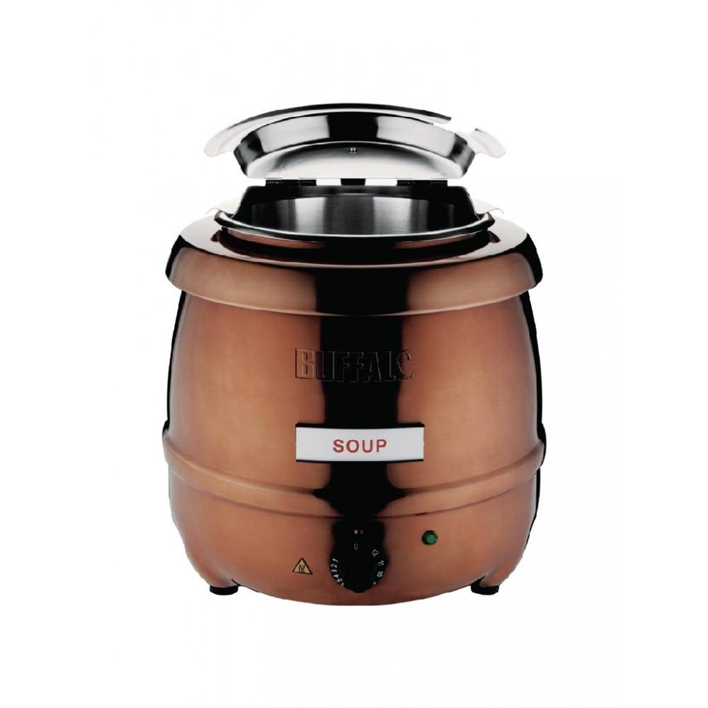Soepketel koperkleurig - 10 liter - CP851 - Buffalo
