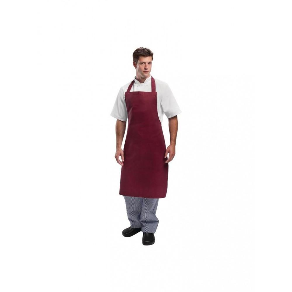 Halterschort - Bordeaux Rood - Whites Chefs Clothing - A557