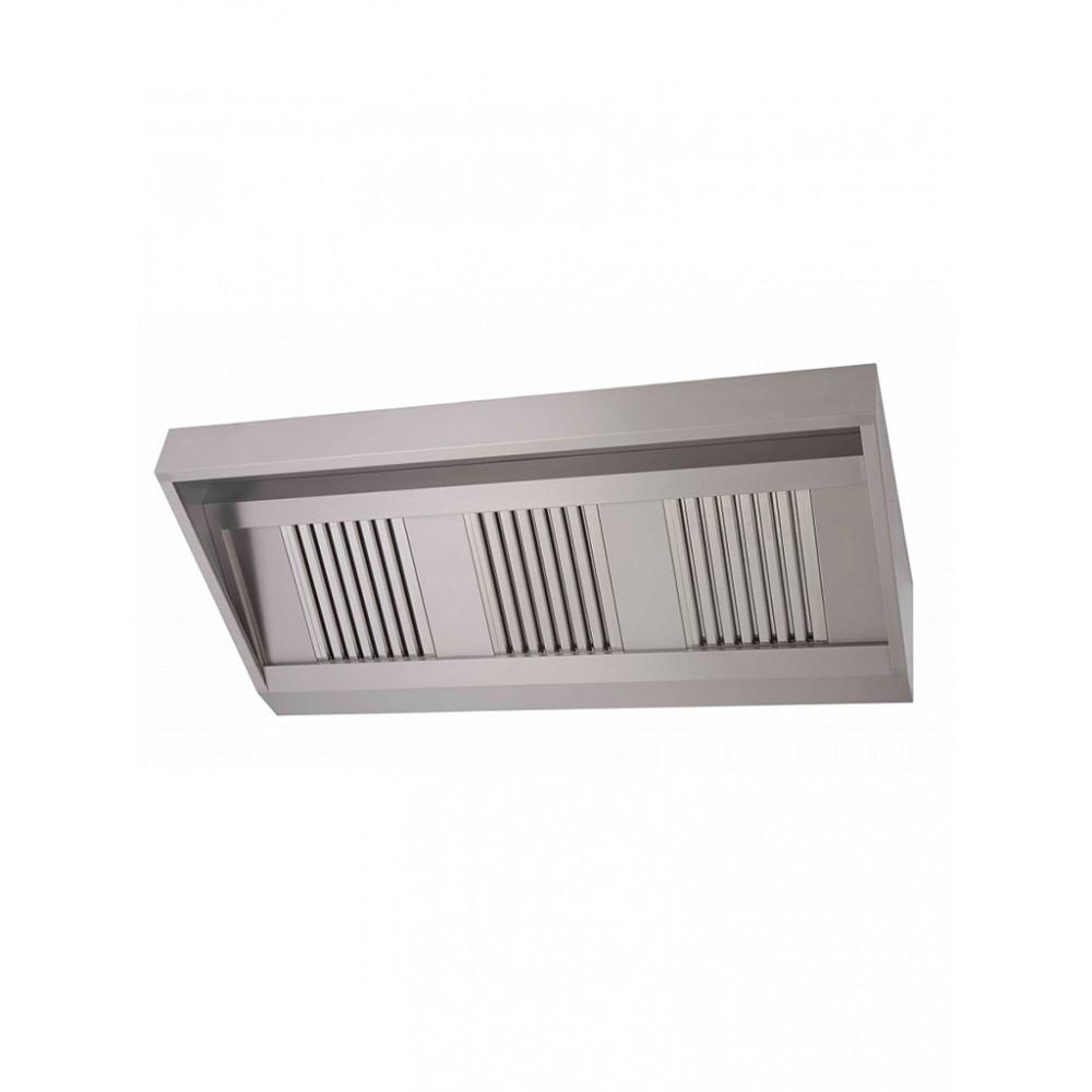 Horeca Afzuigkap - Schuinmodel 150x95x40(h) - Inclusief verlichting