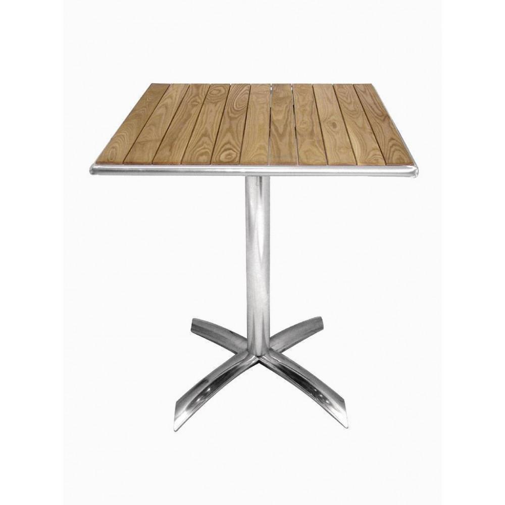 Bolero bistrotafel essenhout opklapbaar vierkant 60 cm| Horeca tafel