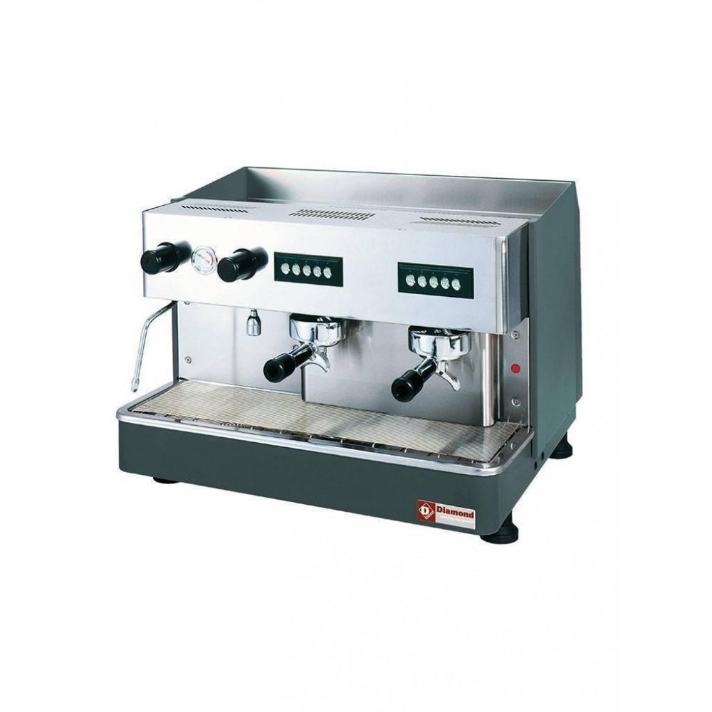 Geheel koffiemachine - 2 groepen - Waterontharder - Compact Line - COMPACT/2E+DVA8 - Diamond