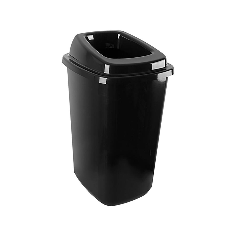 Afval Container - H 61 x 40 x 34 CM - 1.41 KG - Polypropyleen - Zwart - 45 Liter - 650045