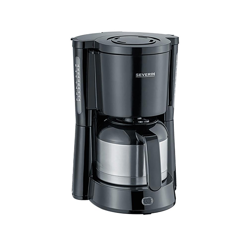 Koffiezetapparaat - H 34 x 23 x 28.2 CM - 2.261 KG - 220 - 240 V - 1000 W - Zwart - 1 Liter - Severin - 910015