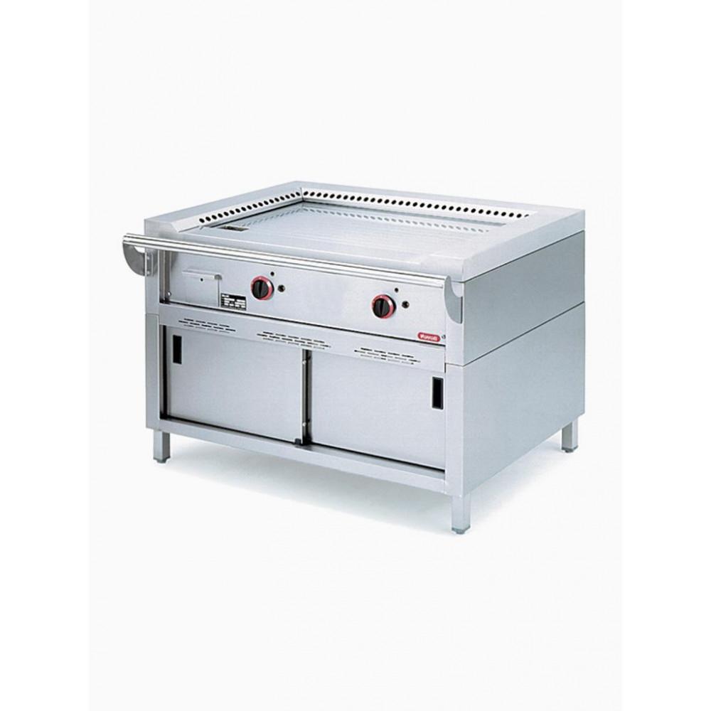 Elektrische teppanyaki - Staandmodel - 2 zones 11,7kW