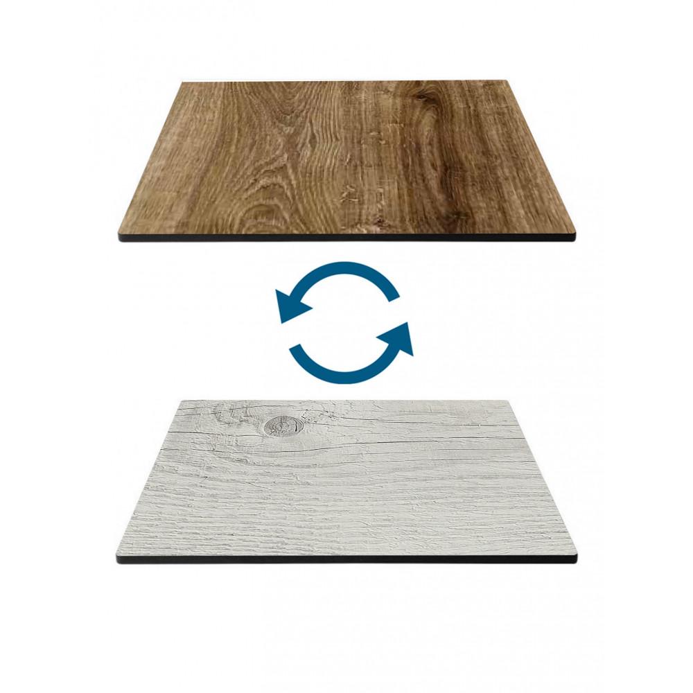 Tafelblad HPL - 70 X 70 CM - Timber Wit & Oak Rustical - Promoline