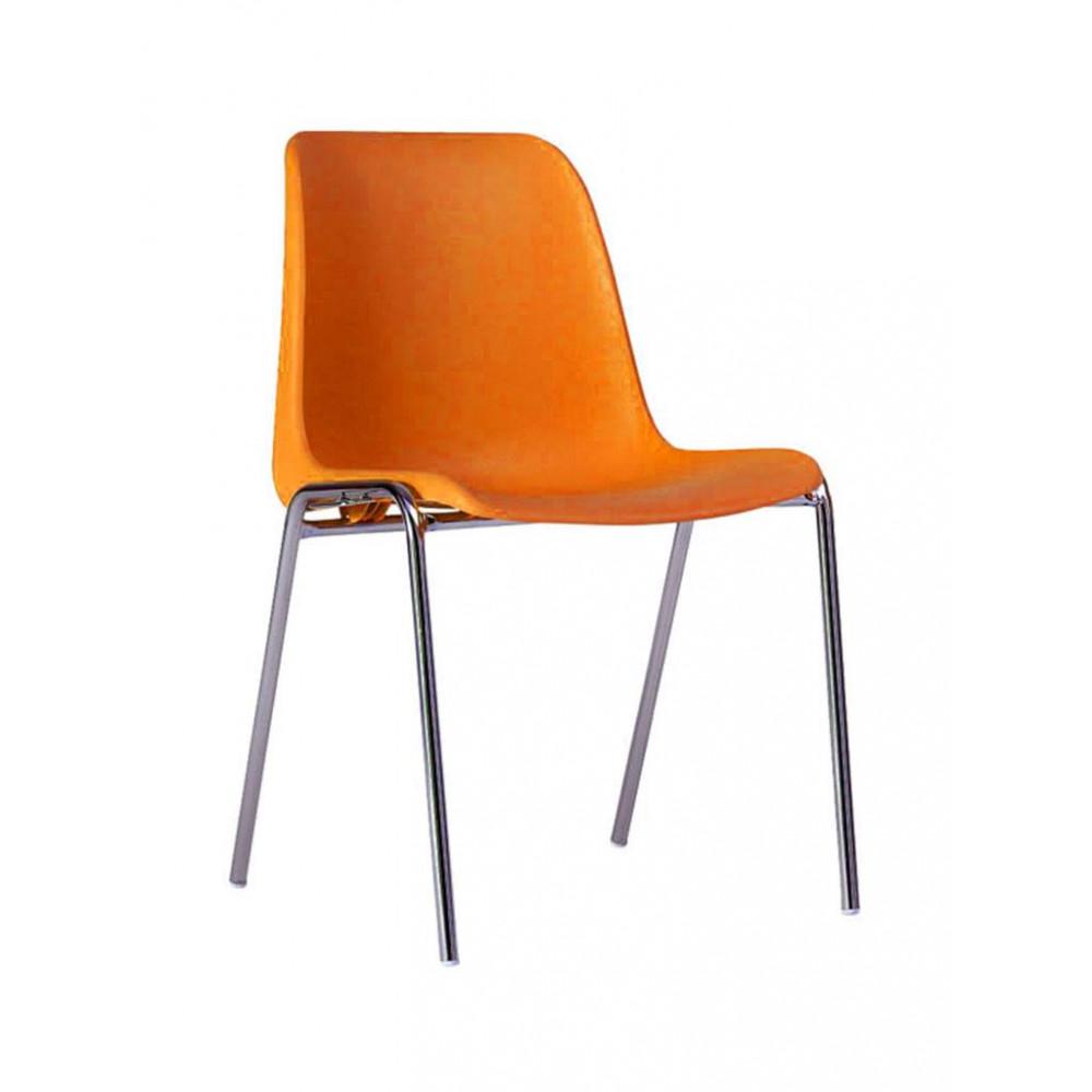Horeca stoel - Helene - Oranje - Stapelbaar - Promoline - HW01004