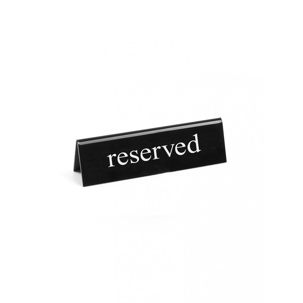 Tafelstandaard - Reserved - Engels - 13 cm - Hendi - 663462