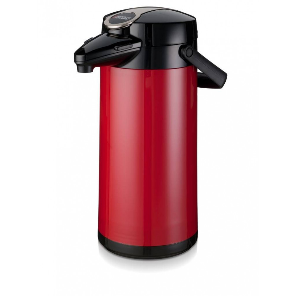 Airpot Furento - 2.2 liter - Rood/Glas - Bravilor