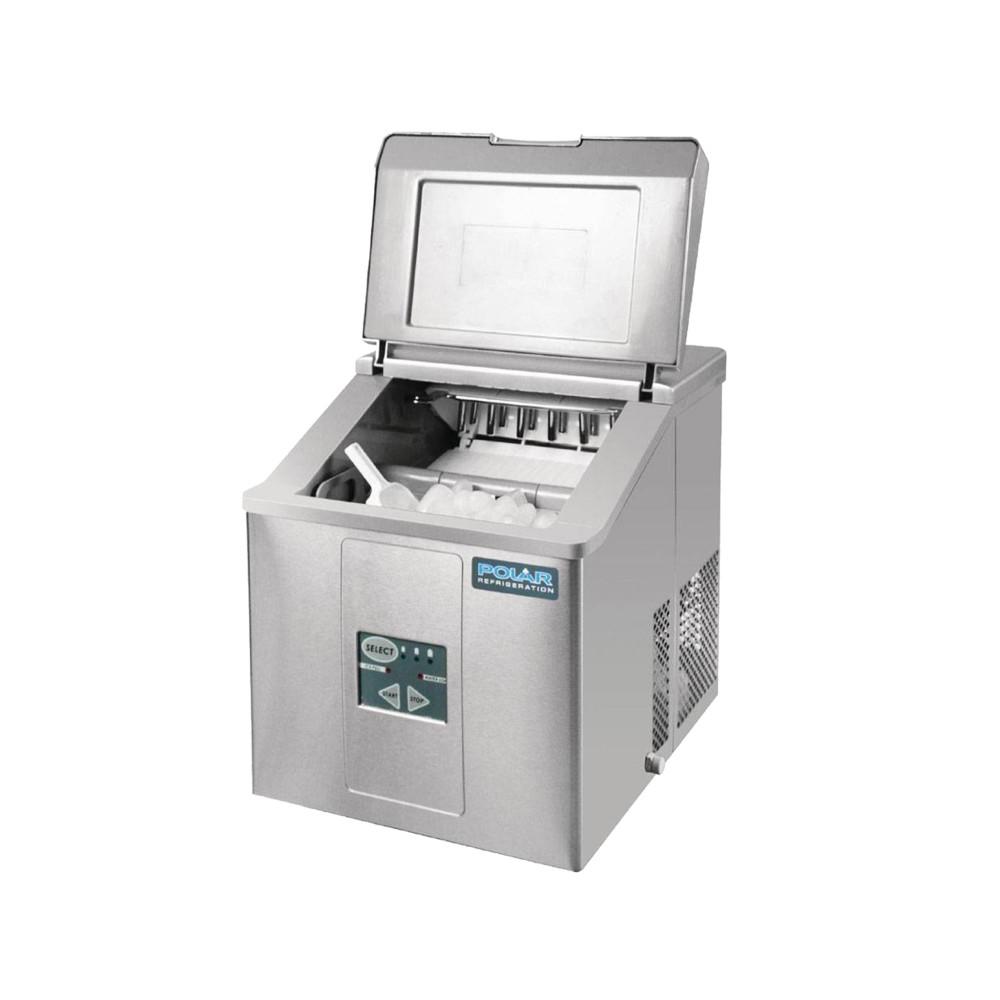 Polar 17 kg / 24u - Holle ijsblokjes - Compact - Luchtgekoeld   Holle ijsblokjesmachine