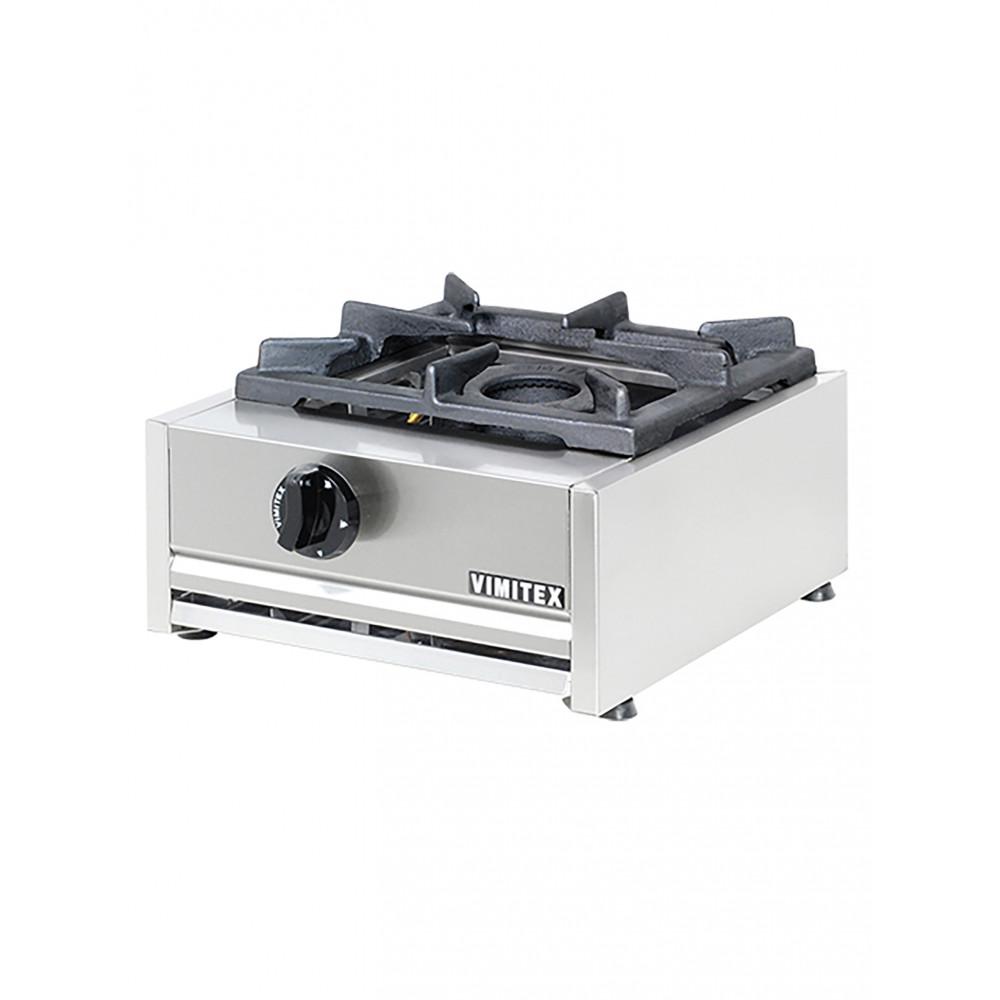 Kooktoestel - H 20 x 38.5 x 40 CM - 10 KG - Aardgas - 7 CM - RVS - Gas - Vimitex - 305001