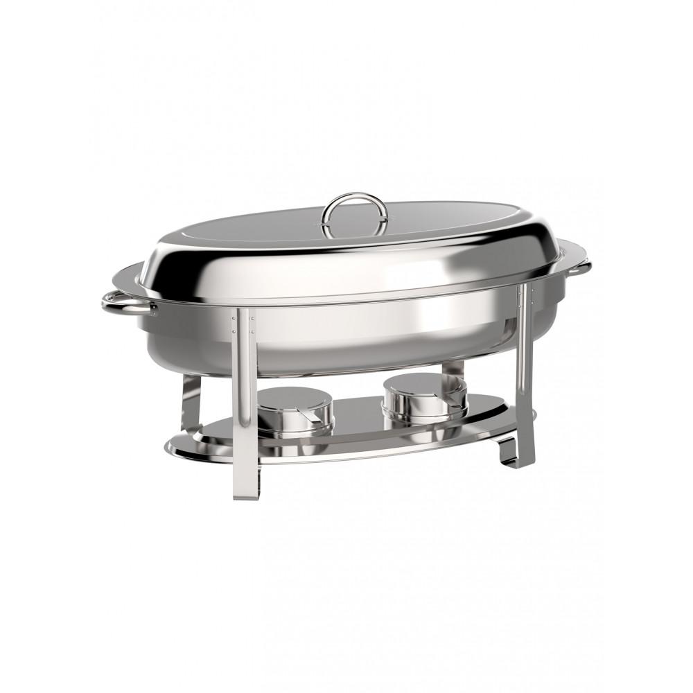 Chafing dish - Ovaal - RVS - 5.5 Liter - Promoline