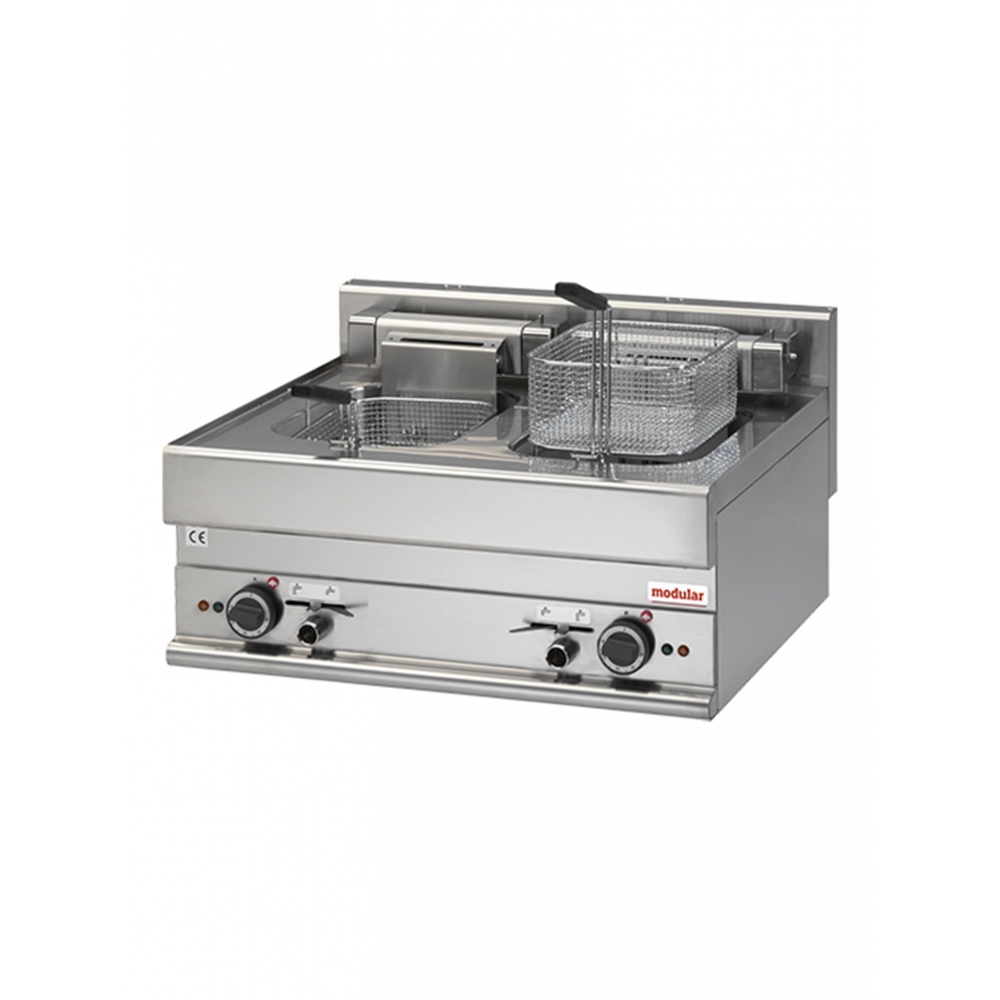 Friteuse - H 28 x 70 x 65 CM - 28.5 KG - 380 - 415 - Zonder - Stekker V - 15000 W - RVS - 10 Liter - Elektrisch - Modular - 316044