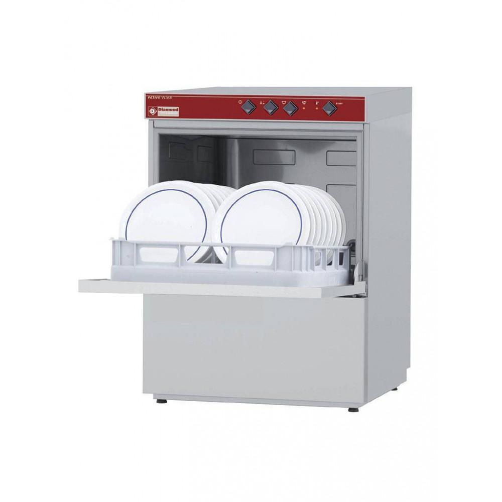 Horeca vaatwasser - 50 x 50 mand - 230V - Afvoerpomp - Active wash - 051D/6M-PS - Diamond