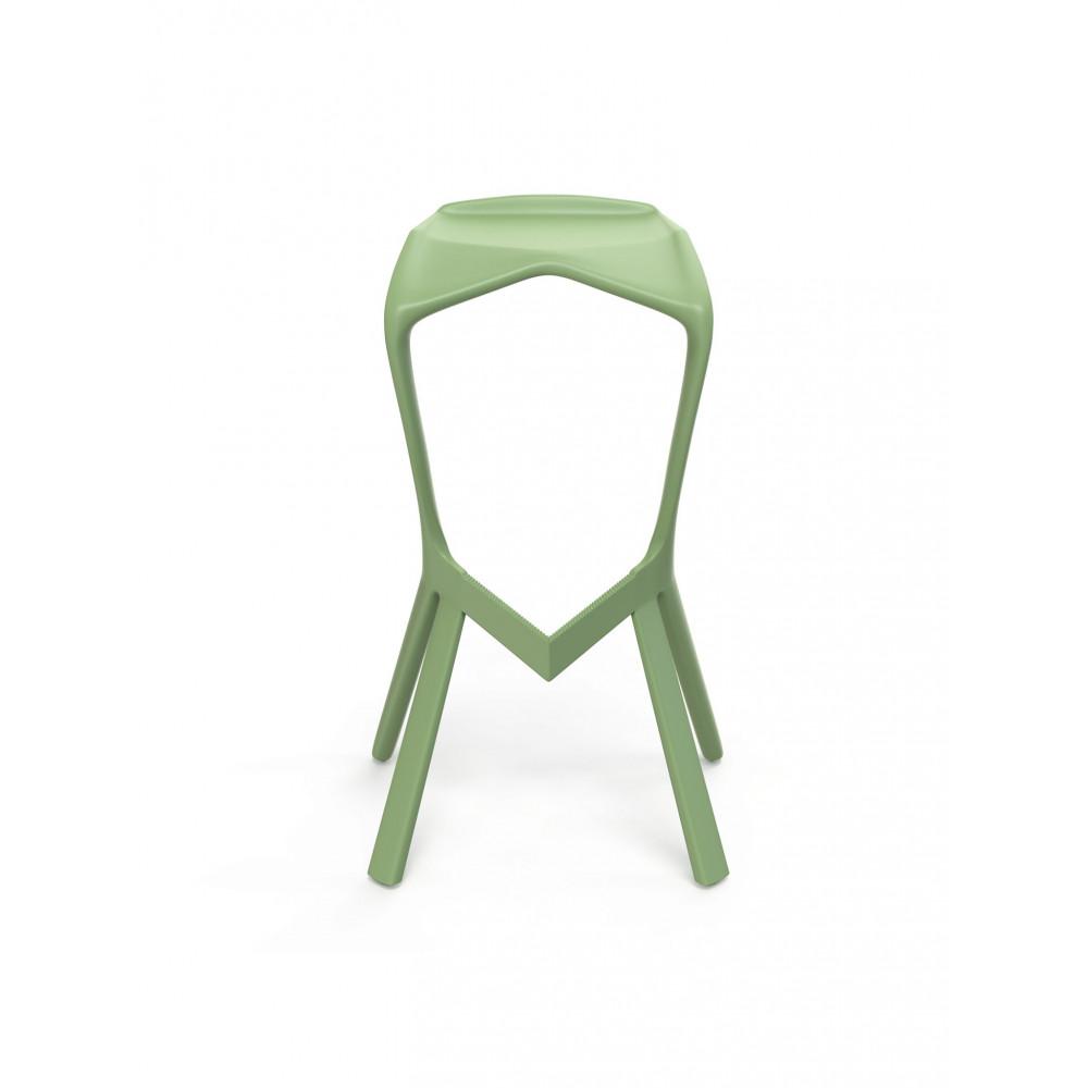 Terras Barkruk - Gavi - H 82 x 45 x 31 CM - Nile Green - Kunststof - Promoline