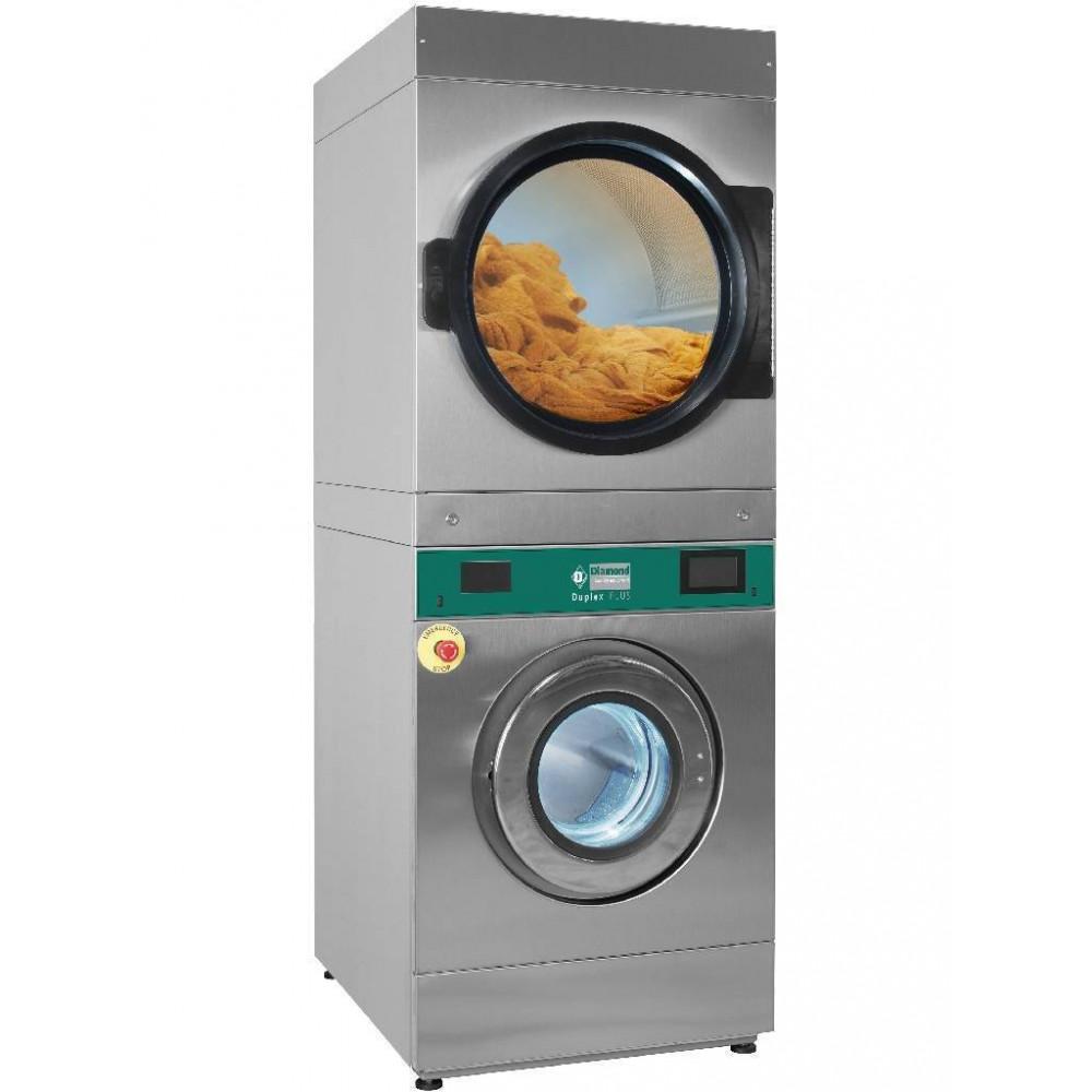 Wasmachine met super centrifugering - Touch screen - Elektrisch - 18 kg + rotatieve droogkast 18 kg - DEEB/18-TS - Diamond