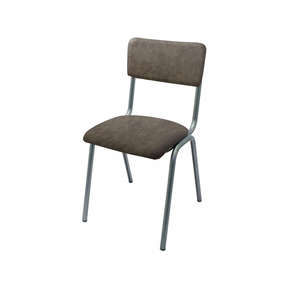 Horeca stoel - Old School - Vintage Metal - PU Antraciet - Promoline