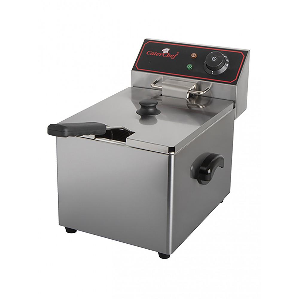 Friteuse - H 34.6 x 26.3 x 40.9 CM - 7 KG - 220 - 240 V - 3250 W - RVS - 8 Liter - Elektrisch - Caterchef