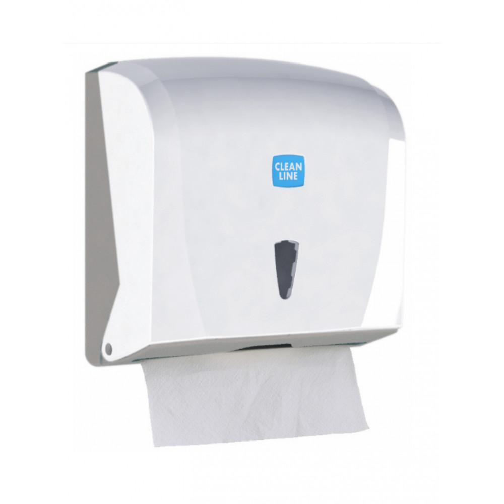 Dispenser Handpapier - Z Vouw - H 24 x 25.5 x 12.5 CM - Wit - Promoline - Cleanline