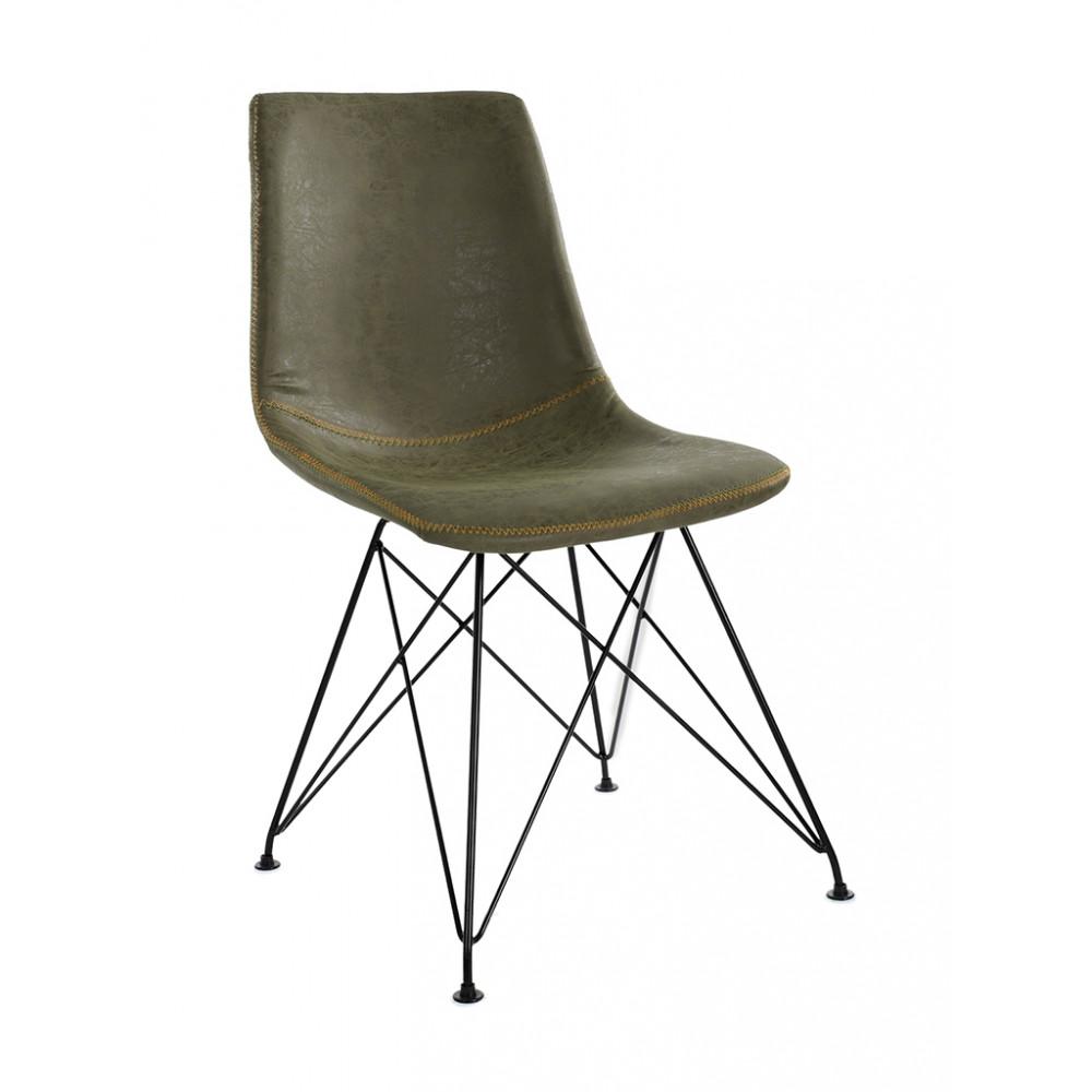 Horeca stoel - Clint - Groen - Staal