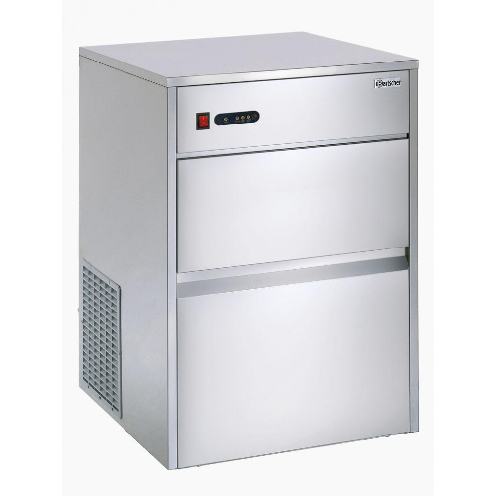 Bartscher 40 kg / 24u - Holle ijsblokjes - Luchtgekoeld | Holle ijsblokjesmachine