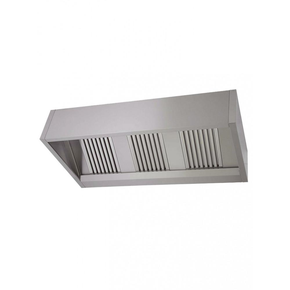 Horeca afzuigkap - Doosmodel - H 40 x 150 x 95 CM - Inclusief verlichting - Promoline