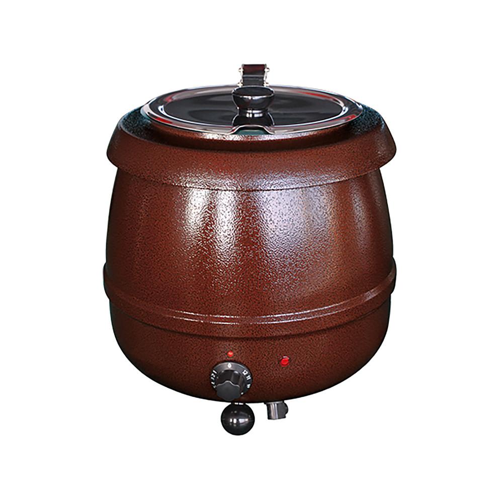 Soepketel - H 36.6 CM - 4.65 KG - Ø38.5 CM - 220 - 240 V - 475 W - Metaal - 10 Liter - Scharnierend Deksel - Bistro - 537110