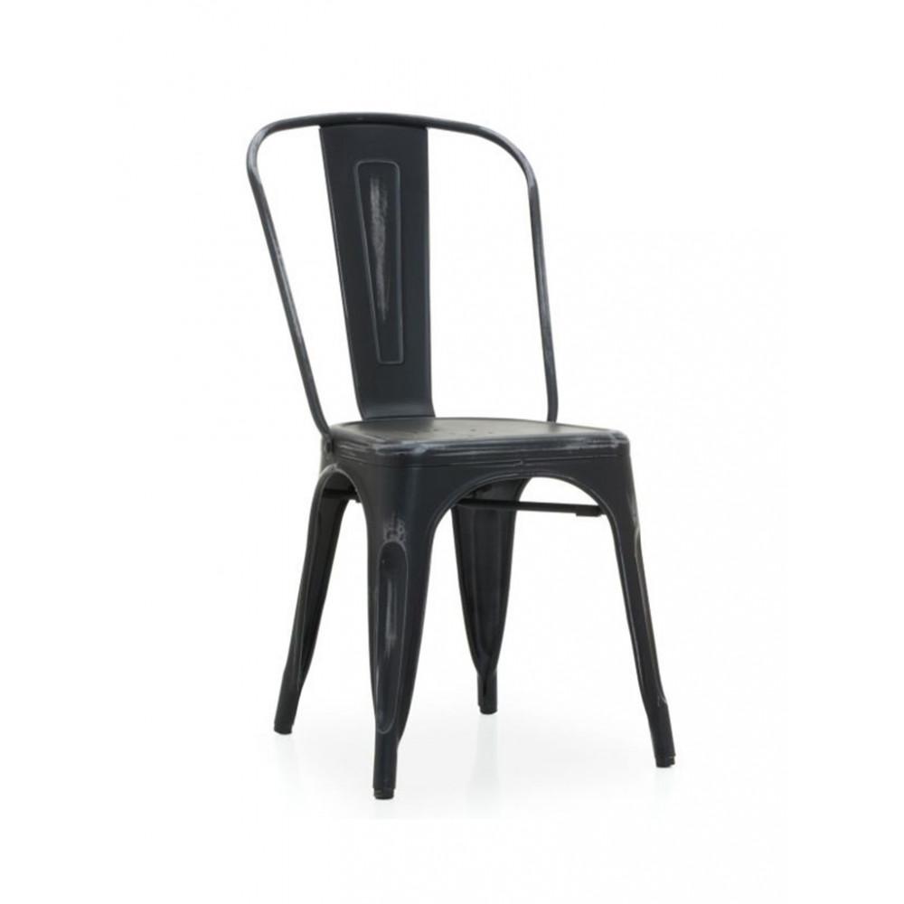 Horeca caféstoel - Retro - Vintage look - Zwart