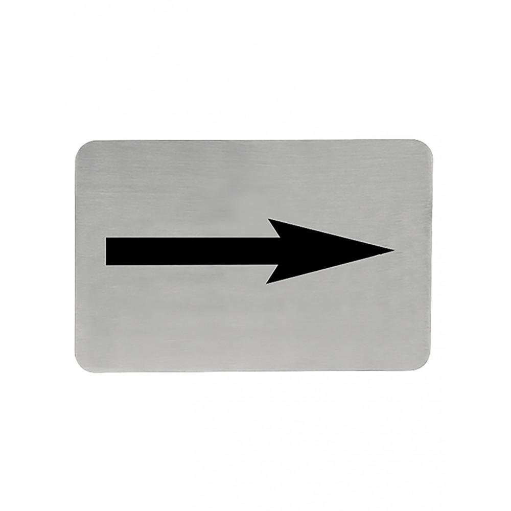 Infobord - H 6 x 11 CM - 0.05 KG - RVS - 705203