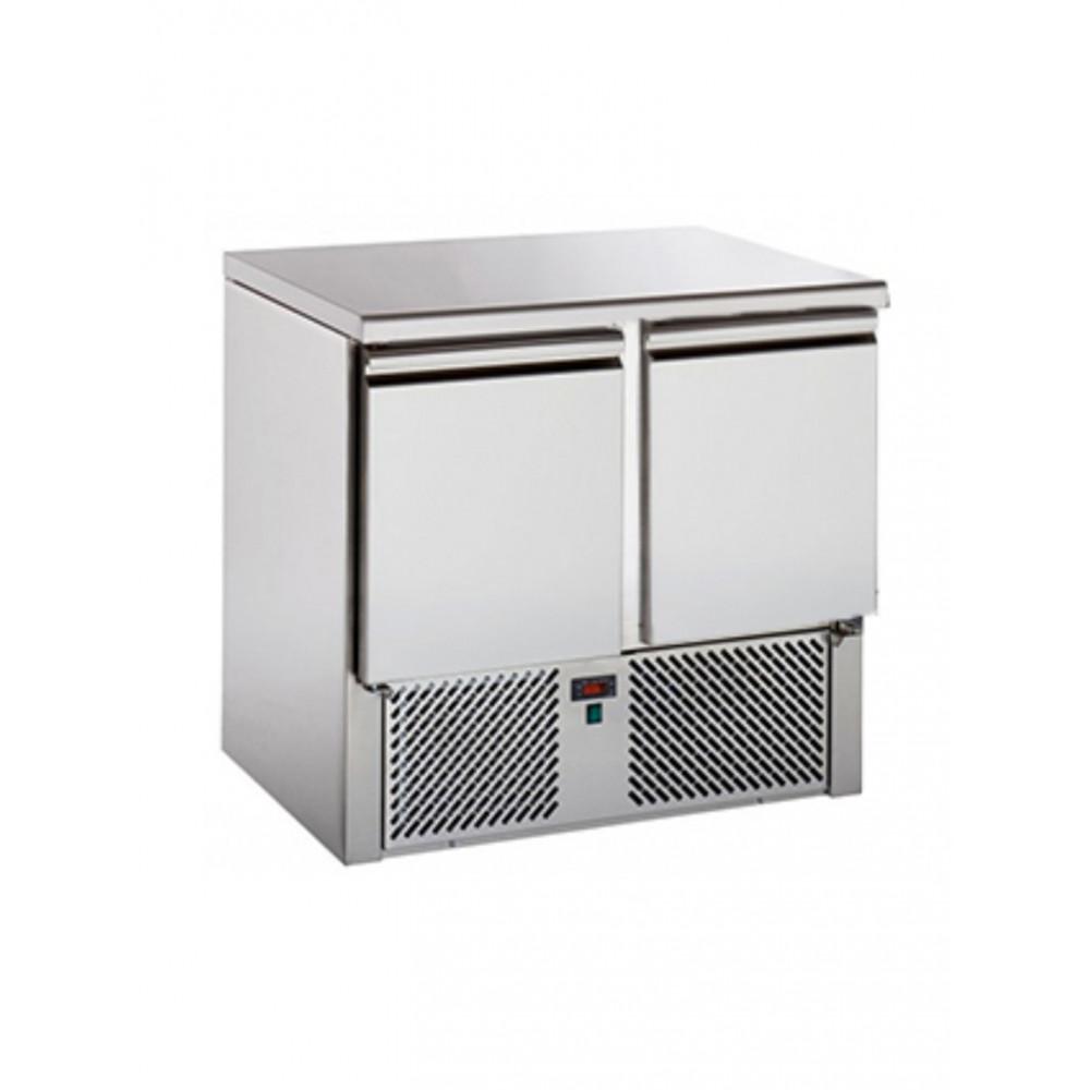 Koelwerkbank - 2 deuren - H 88 x B 90.4 CM - RVS - Tecnodom