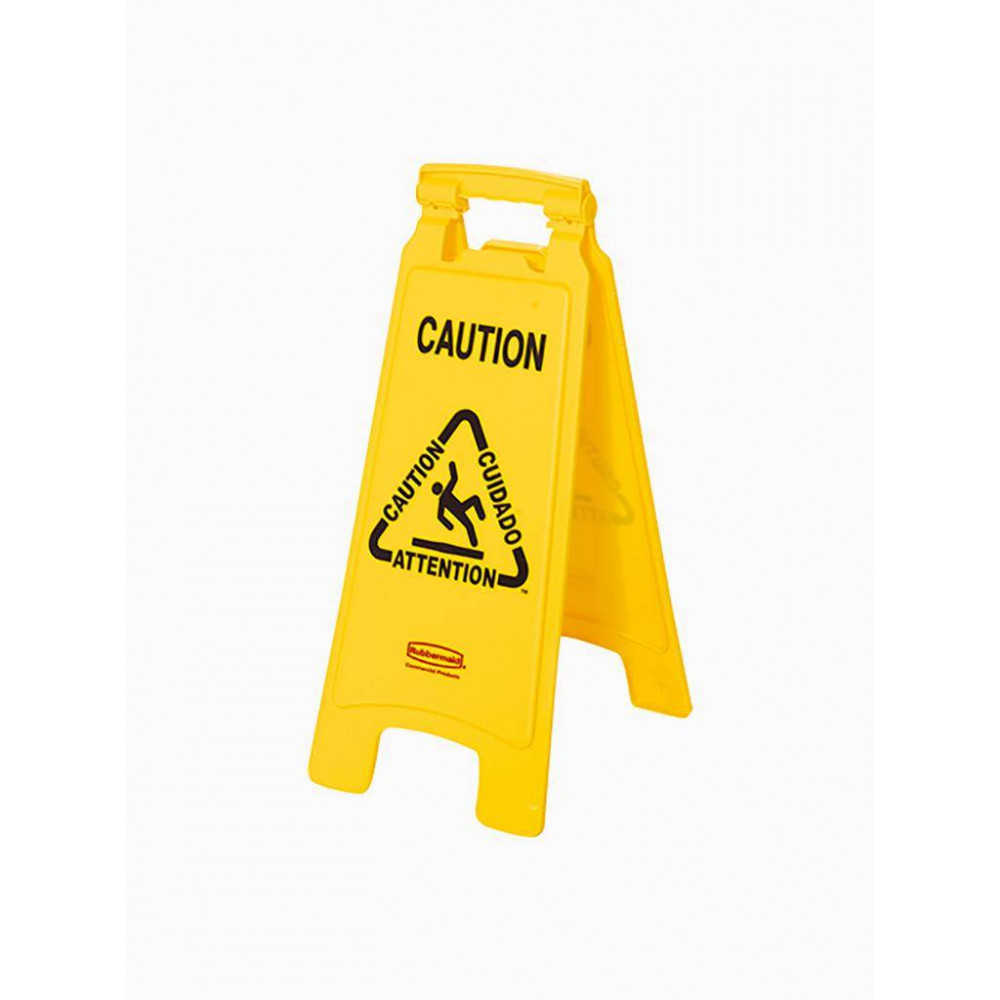 Waarschuwingsbord ''Caution'' 2-zijdig