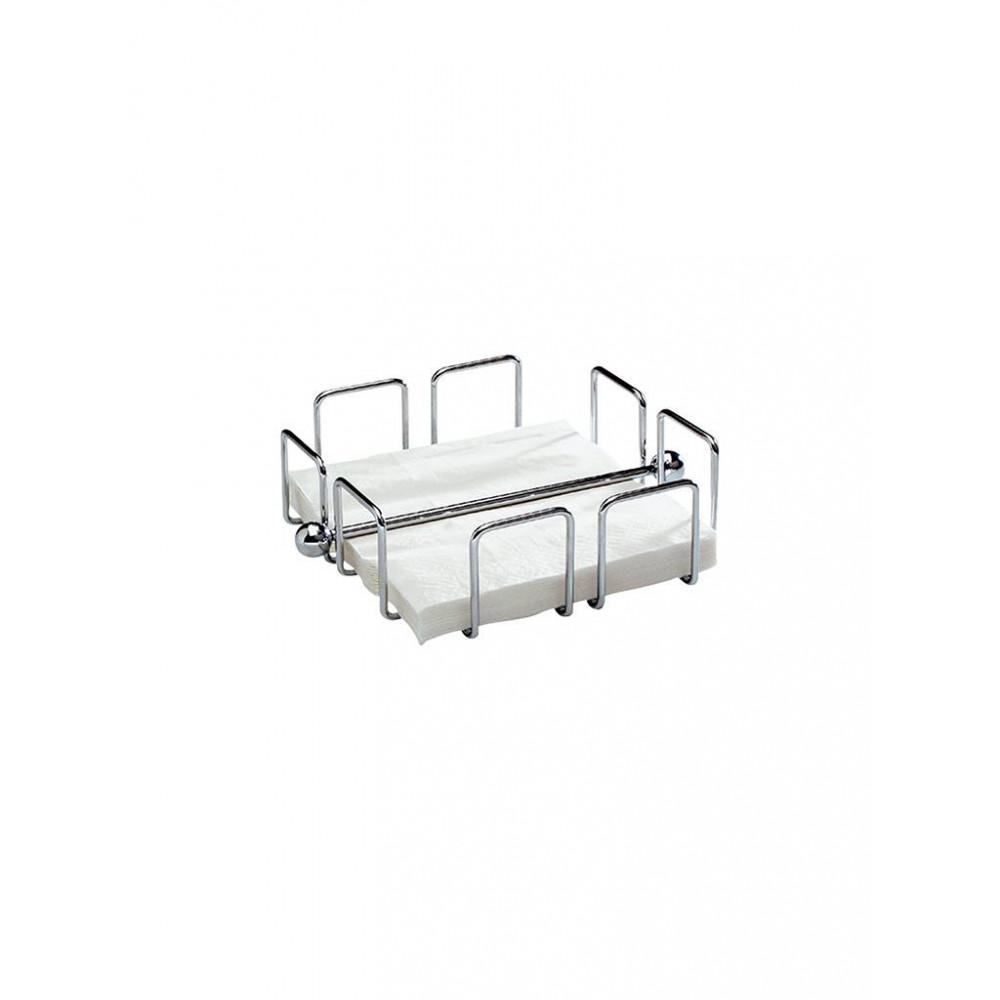 Servet Standaard - H 6.5 x 14 x 14 CM - 0.223 KG - Verchroomd - 130175