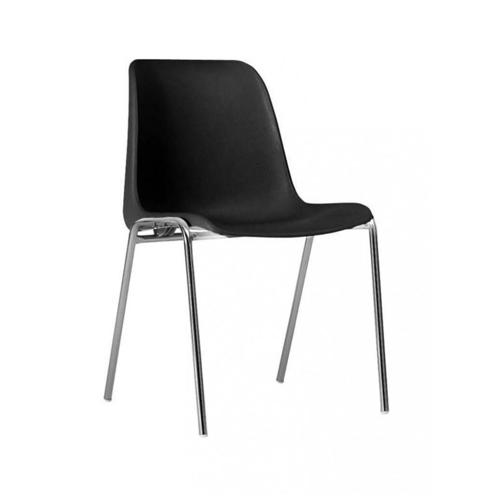 Horeca stoel - Helene - Zwart - Stapelbaar - Promoline