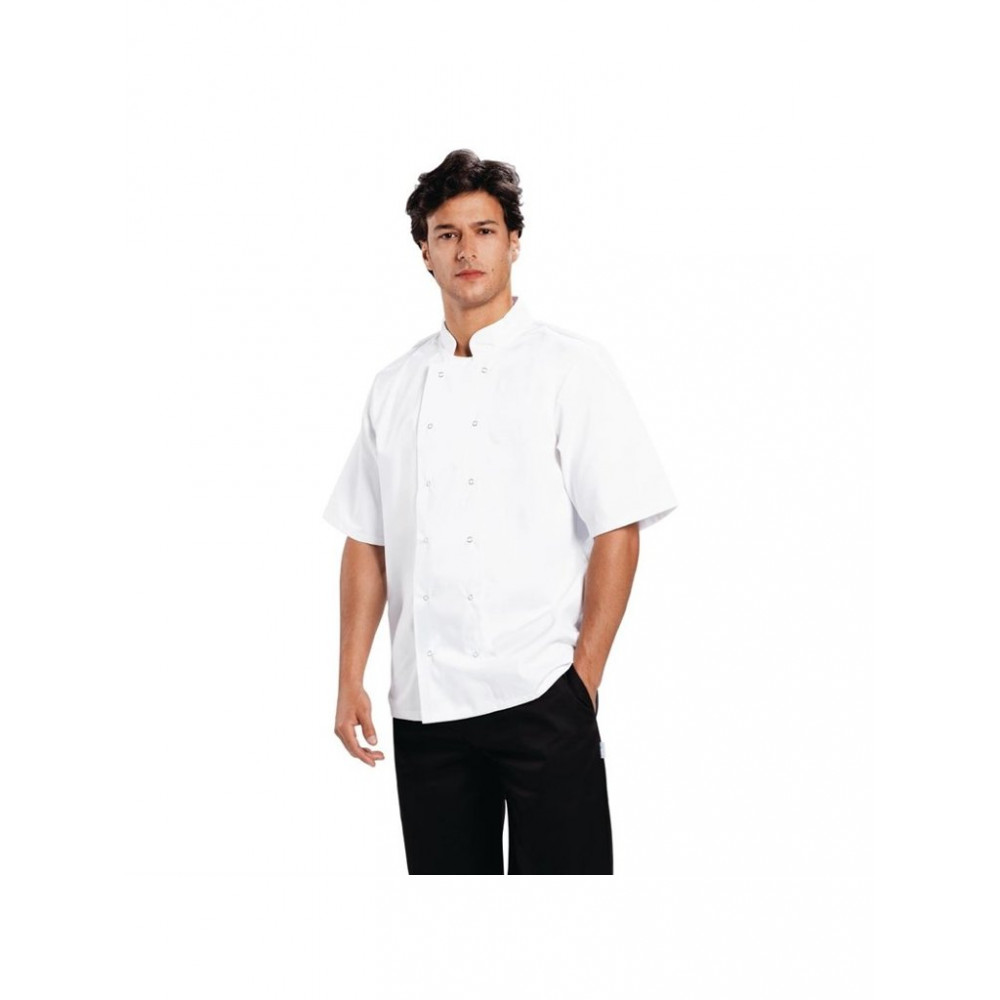 Boston unisex koksbuis - Wit - Whites Chefs Clothing