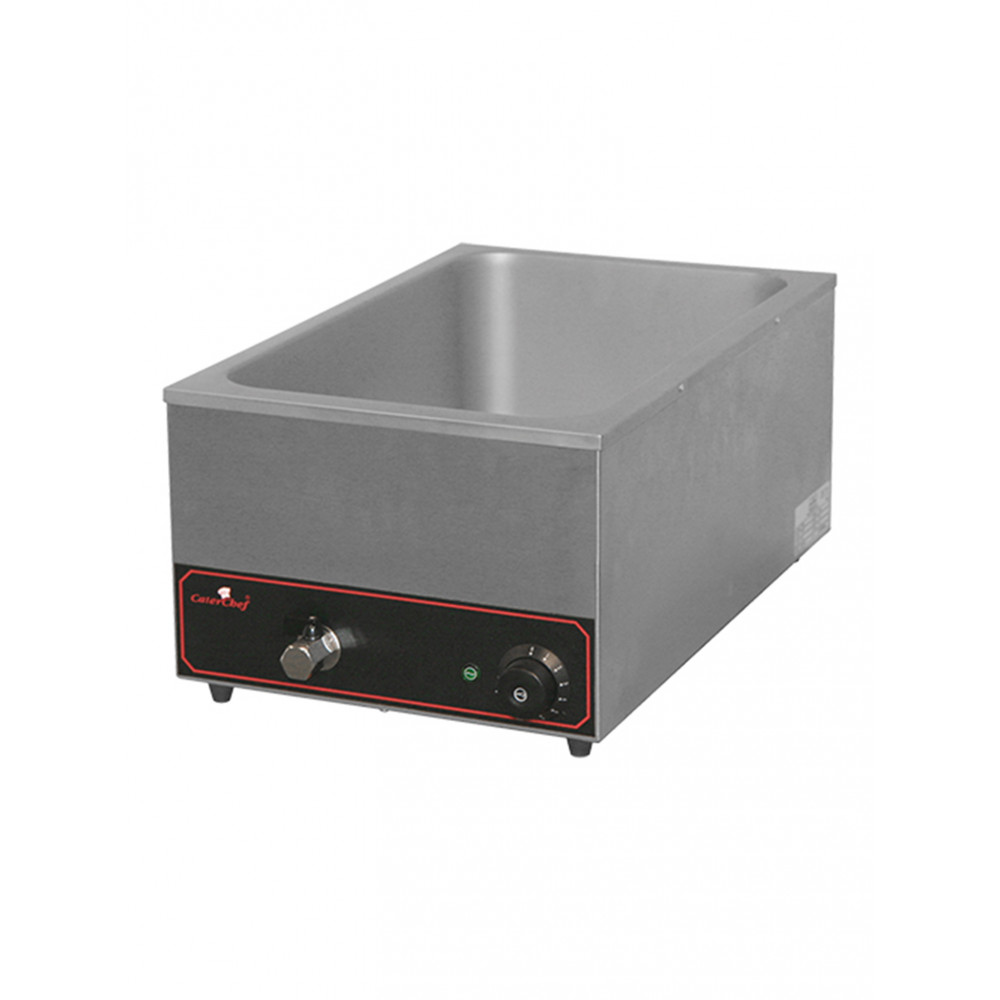 Bain Marie - H 25.5 x 35.4 x 59.5 CM - 8 KG - 220 - 240 V - 1200 W - RVS - Caterchef