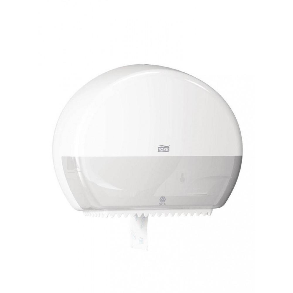 Mini Jumbo toiletroldispenser - wit | Tork