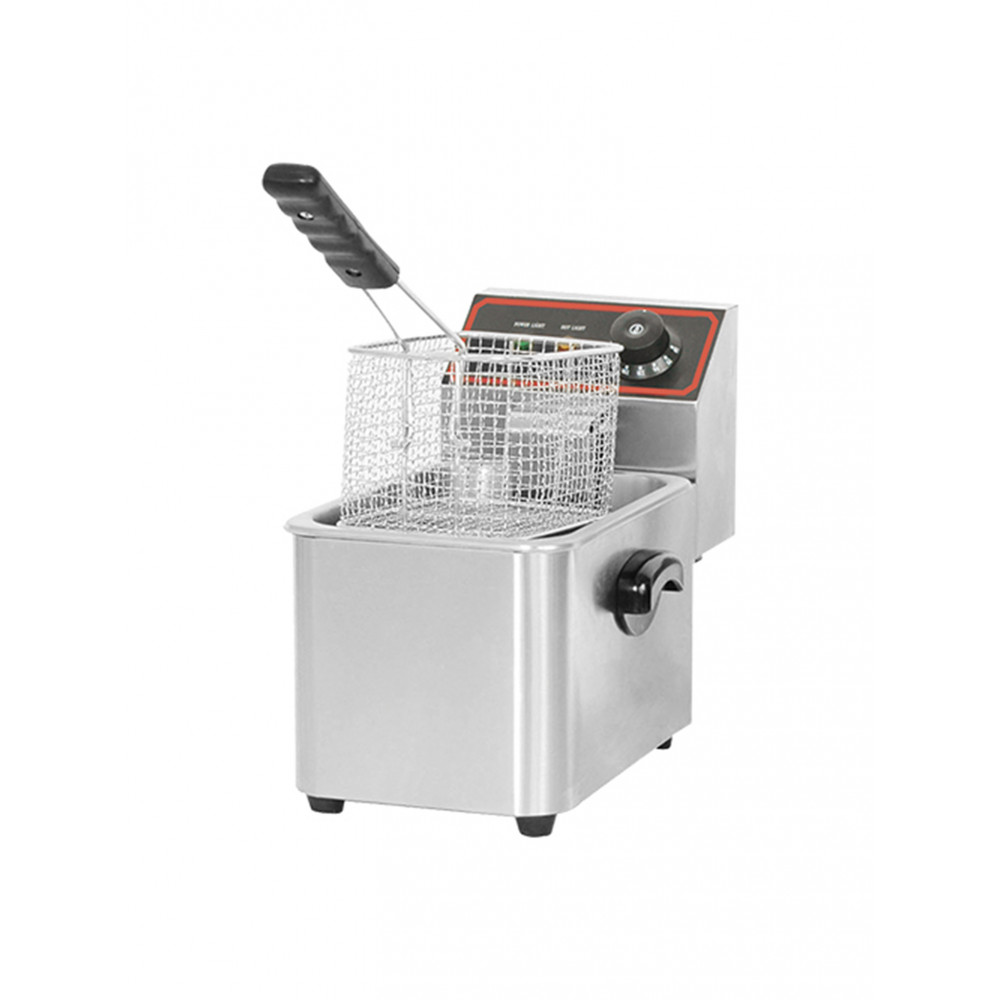 Friteuse - H 31.8 x 20.8 x 37.7 CM - 5 KG - 220 - 240 V - 2000 W - RVS - 5 Liter - Elektrisch - Caterchef