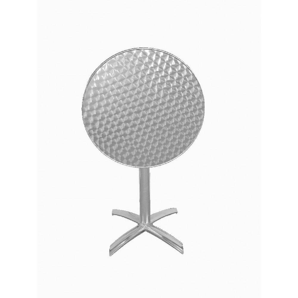 Bolero rvs bistrotafel rond kantelbaar 60 cm| Horeca tafel