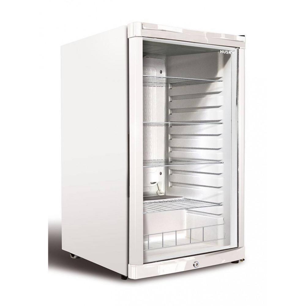 Husky - 122 liter - 1 deurs - Wit - KK110-WH-NL-HU - Koelkast glazen deur