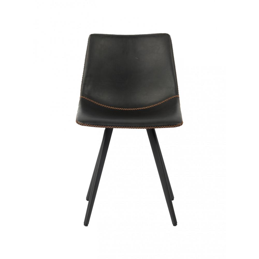 Horeca stoel - Nicolas - PU Leer / Staal - Grijs - Promoline