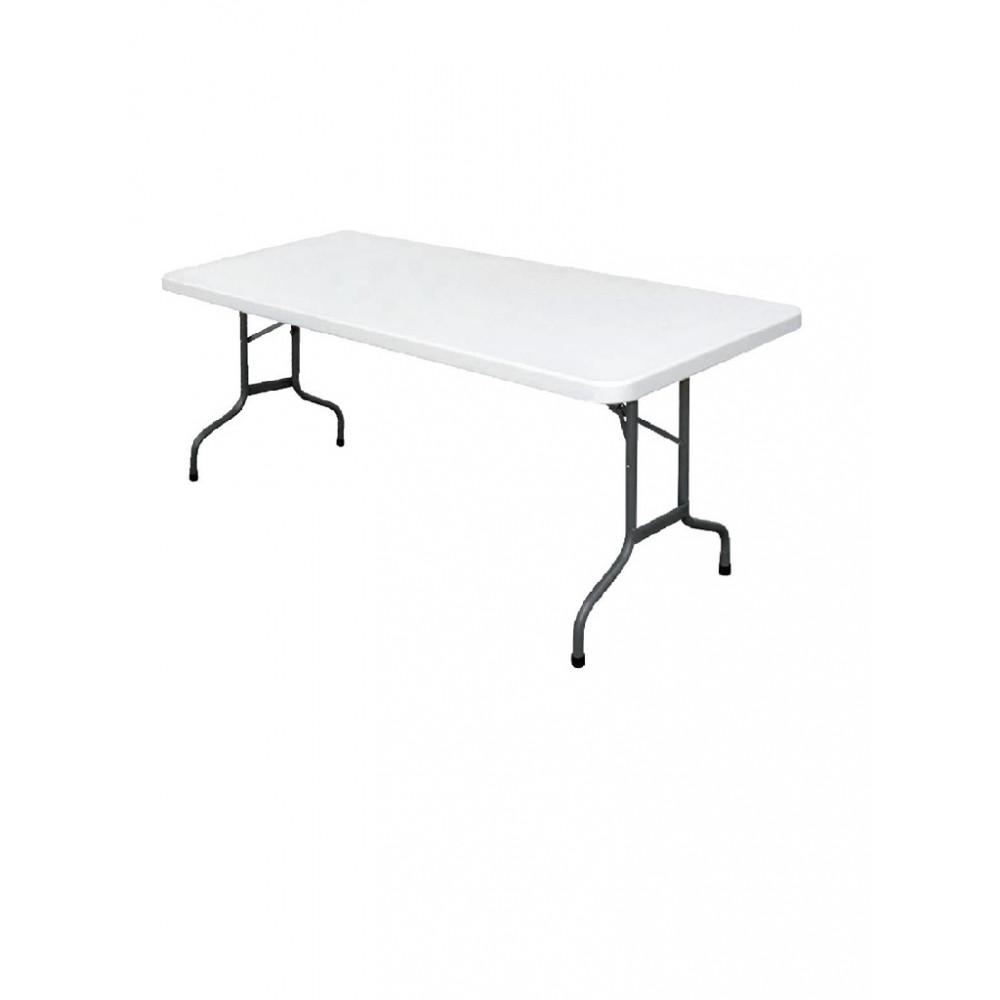 Rechthoekige inklapbare tafel grijs 1,82m - U579 - Bolero