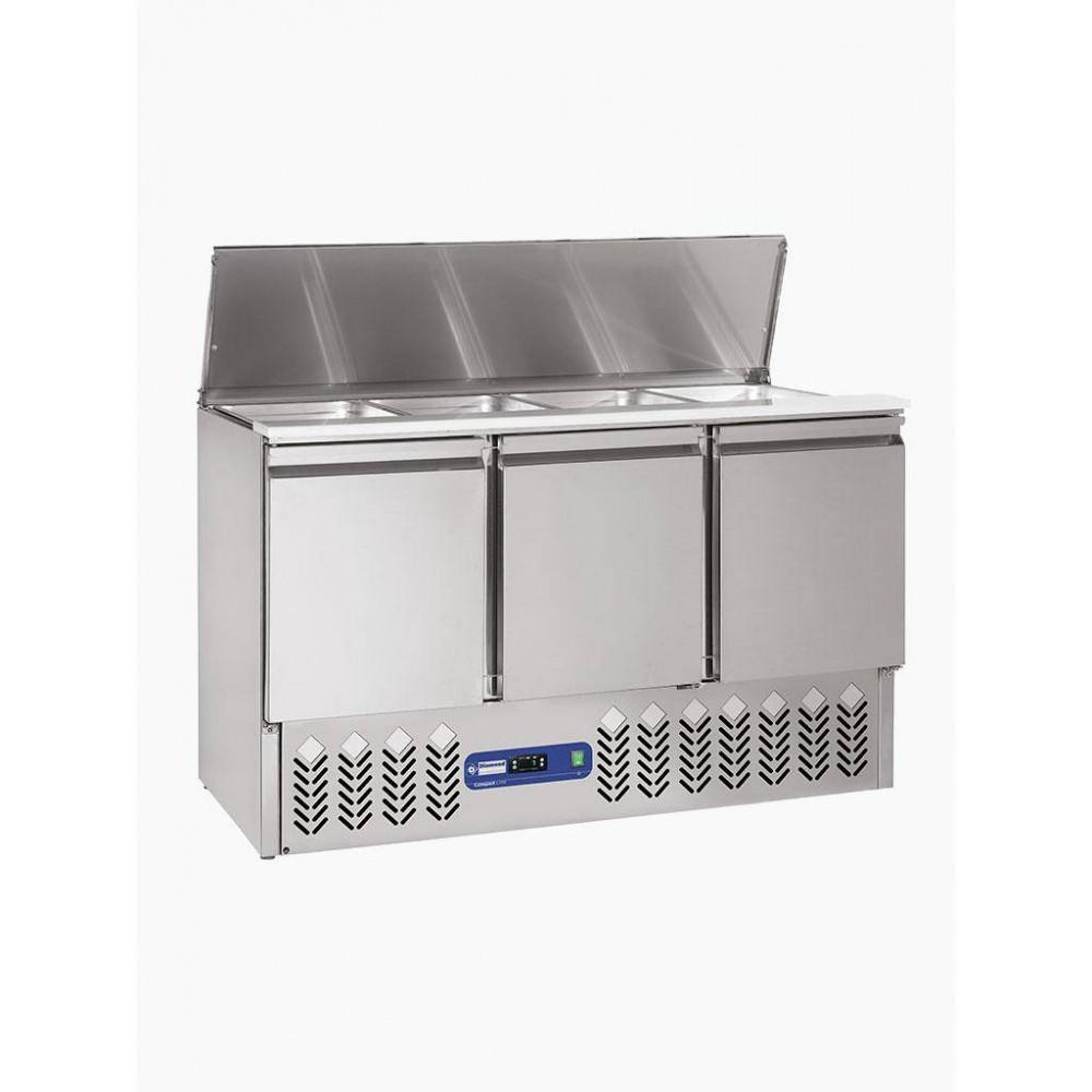 Saladette + Deksel + Reserve - 3 Deuren - 380 L - SAL3M/R6 - Diamond
