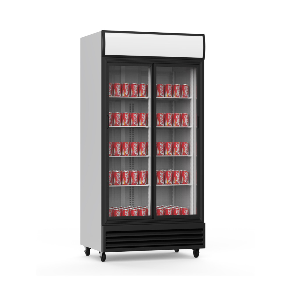 Promoline - 800 liter - 2 deurs - Schuifdeur | Koelkast glazen deur