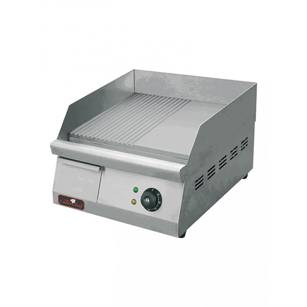 Bakplaat - H 27 x 40 x 54.5 CM - 27.5 KG - 220-240 V - 3000 W - RVS - Glad/Geribbeld - +50°C / +300°C - Caterchef