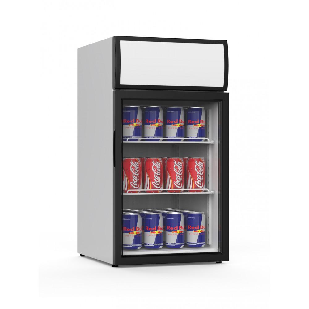 Promoline - 50 liter - 1 deurs - 02468 | Koelkast glazen deur