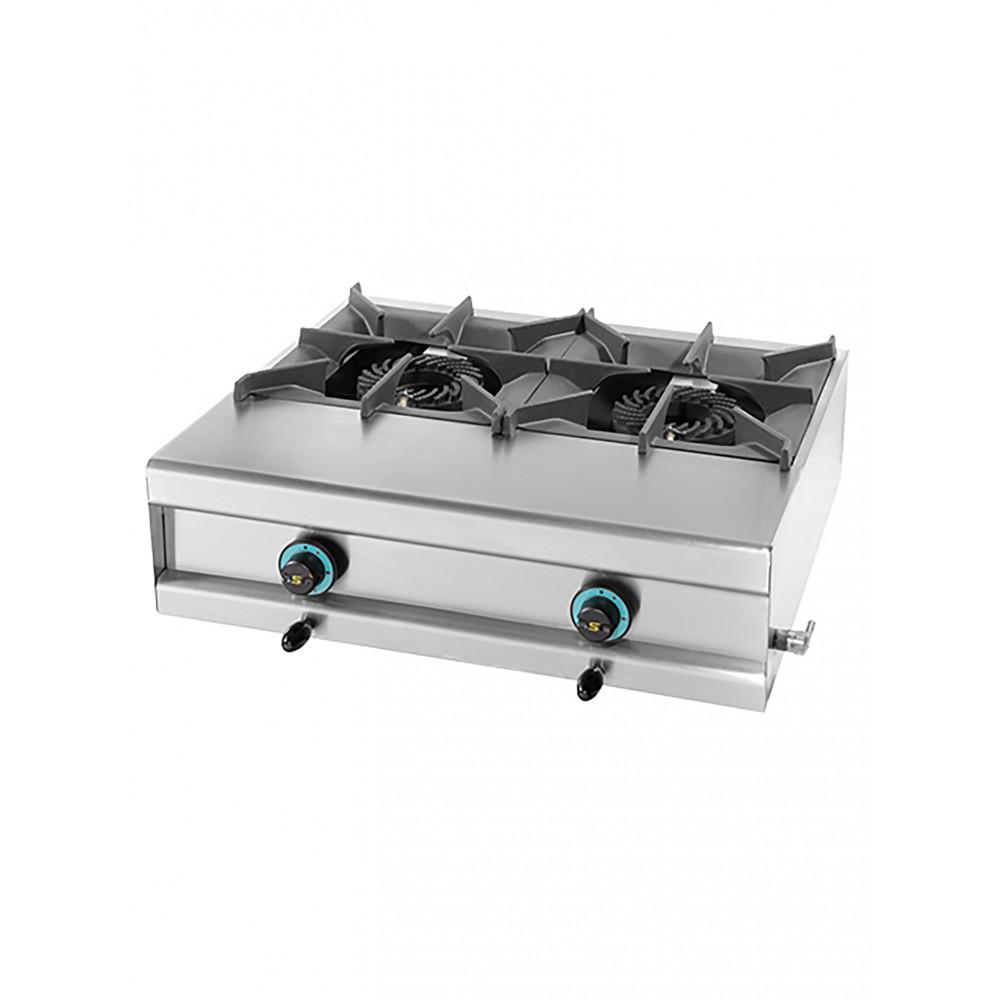 Kooktoestel - H 25 x 74 x 60 CM - 26 KG - Propaangas - 20 CM - RVS - Gas - Mach - 321212