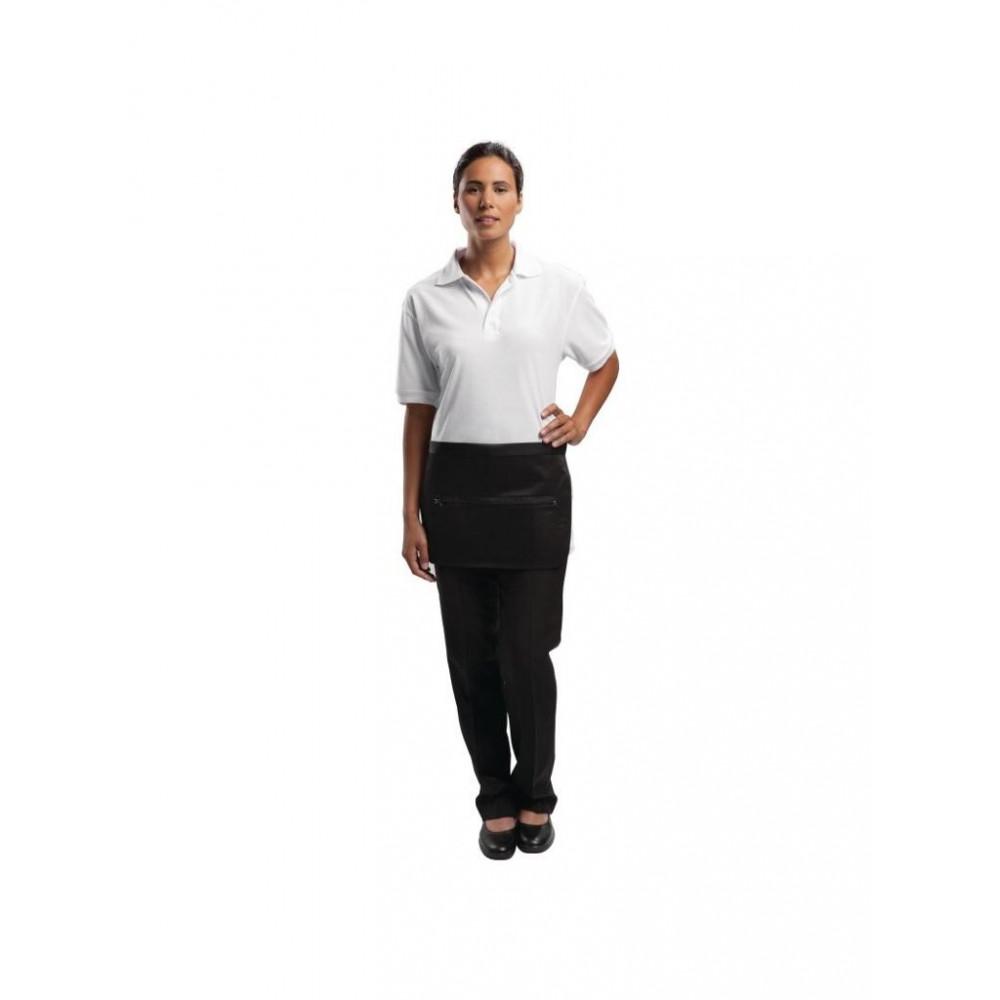 Geldschort met zak en ritssluiting - Zwart - Whites Chefs Clothing - A587
